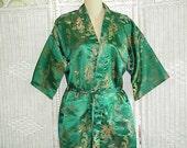 Vintage Japanese Kimono Robe sz Large