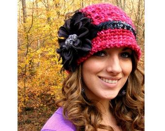 Baby Crochet Hat Pattern - All Sizes - Womans Crochet Hat Pattern - Tutorial 4 Flower  Vintage Jewelry App n Lace No.58