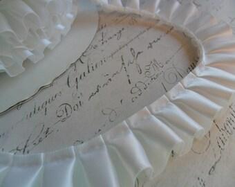 7/8 Wide White Satin Box Pleat Ruffle trim