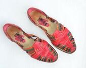 size 7 multicolor leather sandals