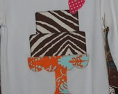 Let Them Eat Cake strawberry zebra retro shirt for girls YOU CUSTOMIZE