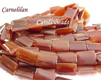 Carnelian Rectangular Shaped Beads-1 strand