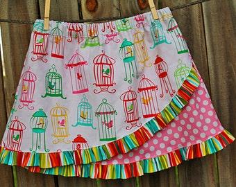 Euro Ruffle Skirt Pattern, Girls Sewing Pattern, Ruffled Skirt Tutorial