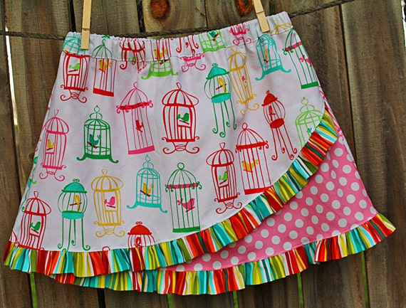 Euro Ruffle Skirt Pattern, Girls Sewing Pattern, Ruffled Skirt Tutorial