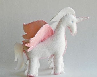 Unicorn, Horse, Pegasus Pattern - PDF Tutorial - a perfect handmade gift for a baby, child or someone special.