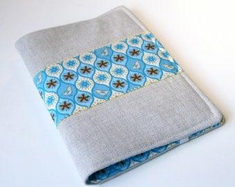 Notepad Holder Organizer List Taker - Blue Bird Linen