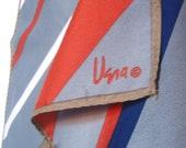 9 to 5 - a vintage 1980's Vera Neumann OP-Art Scarf