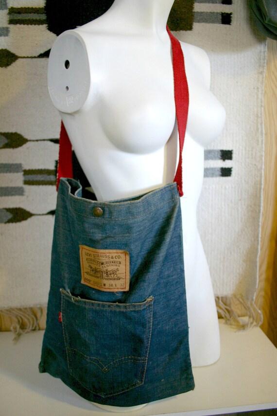 Vintage 60's 70's LEVIS Jean purse