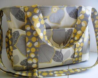 Diaper bag - Amy Butler Optic Blossom - Extra Large Diaper Bag - Tote Bag - Messenger Bag
