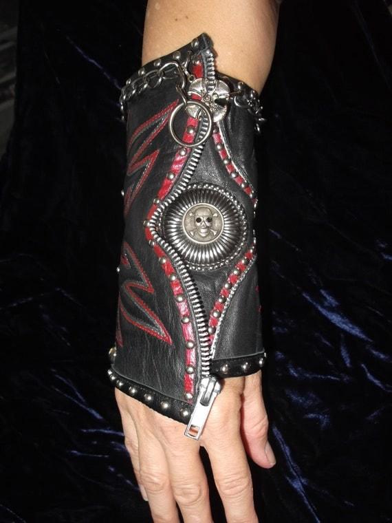 RESERVED FOR DEREK Leather studded gauntlet