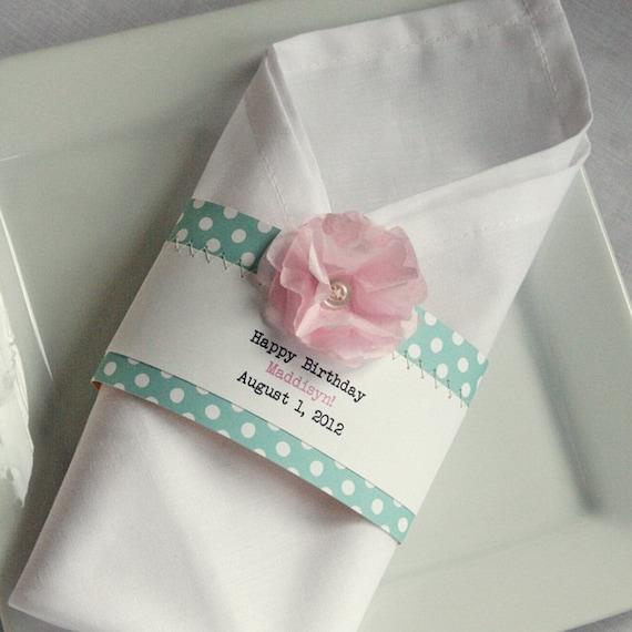 Items Similar To 25 Birthday Baby Shower Or Wedding Napkin