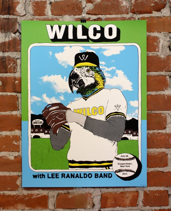Wilco- Official Hand-Printed Gigposter- Cooperstown, NY