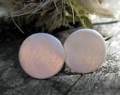 Circle stud earrings / silver studs /  sterling silver earrings / gift for her / simple earrings / brushed silver earrings / jewelry sale
