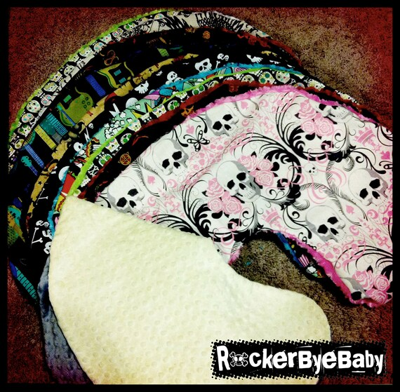 Custom Punk Rock Boppy Cover You choose the fabric and the minky Skulls Guitars Pirates girl boy unisex
