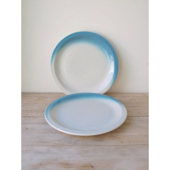 Blue Restaurant Dinner Plate - Made in USA - Sterling China - Sambos Restaurant China