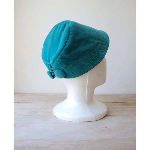 Reserved for Candace - Teal Velvet Womens Hat - 1950 Style Hat