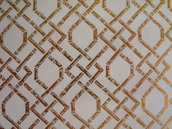 Regency Pattern Wallpaper Gold Bamboo Trellis Pattern