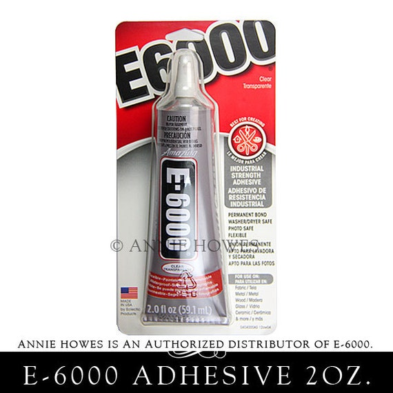 E-6000 Jewelry and Craft Adhesive Large 2 oz Tube. Annie Howes is an Authorized Distributor of E6000. Made in USA. 237012