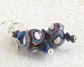 Sterling Earrings with Handmade Beads