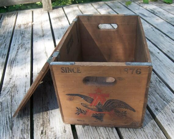 vintage wooden Budweiser beer crate 1876- 1976 Centennial box St. Louis MO