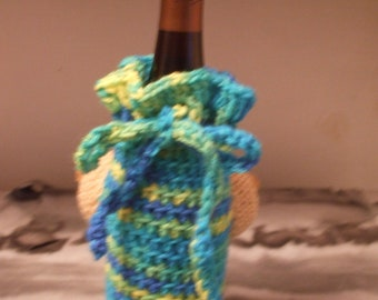 Naughty Wine Bottle Cozy with Boobies - MATURE