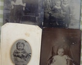 FREE SHIPPING- Lot Of 4 Tintypes Of Children