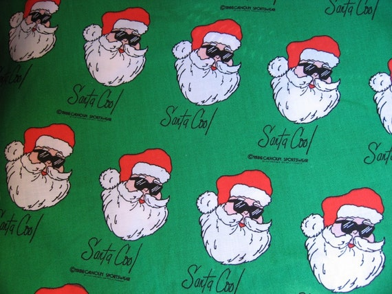 Do not buy reserved for Raschelle 6 yards Santa Cool Christmas Cotton Fabric 1986 Calhoun