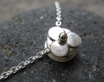 sterling silver slider necklace . ((Wildflower Slider Necklace)) . reversible with hammered texture on back . made to order