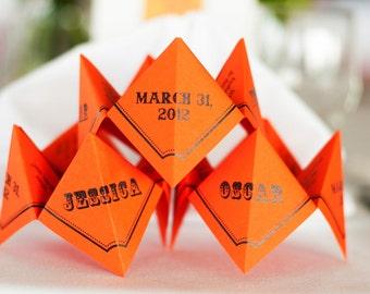 SAMPLE- Cootie Catchers- Origami Wedding MENU