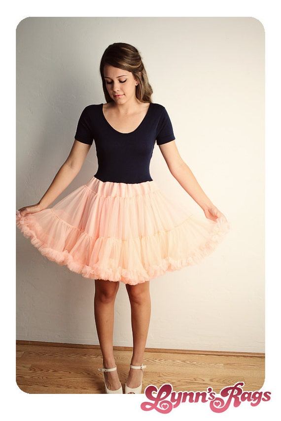 Peach Navy Blue TUTU DRESS Ruffle Handmade DRESS diy