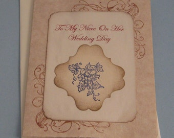 To My Niece On Her  Wedding Day   Wedding Day Card