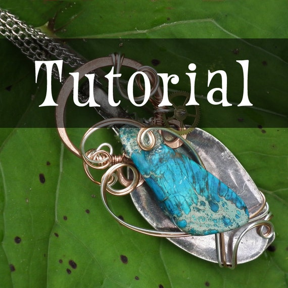 TUTORIAL: Spoonful of Ocean - Pendant  (Wire-Wrapped Pendant Instructions)