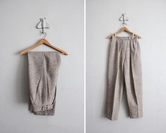 vintage Christian Dior high waist wool trousers