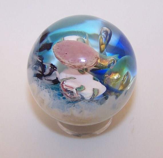 lampwork jellyfish sealife glass marble