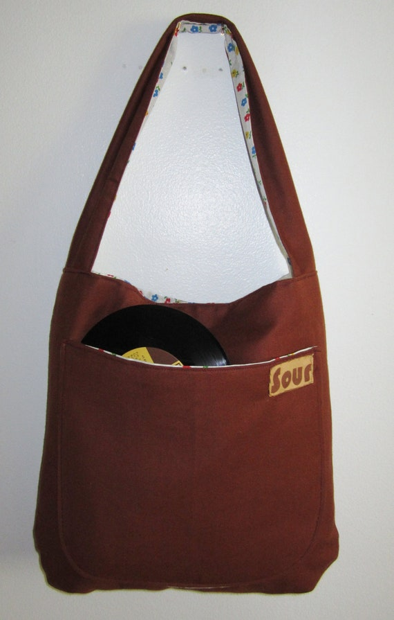 ON SALE Grassroots Rusty One Strap Tote Bag ( reversed for Gabby)