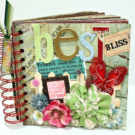 BEST FRIEND A Z Friendship Scrapbook Photo Album