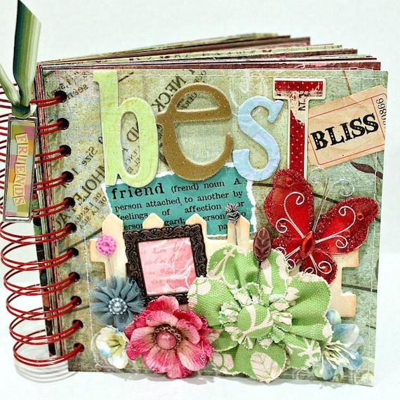 diy wedding photo album ideas - BEST FRIEND A Z Friendship Scrapbook Album