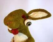 Needle Felted Zombie Bunny