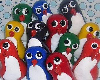 Rainbow Mini Penguins - Set of 6