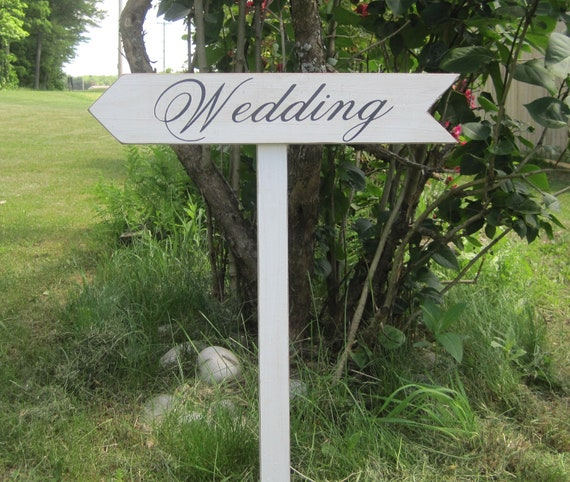 Rustic Wedding Decoration Directional Sign Arrow Wood Ceremony Country Outdoor Stake included