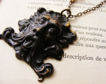 The Green Man Necklace Rebirth Woodland Earthy Ancient