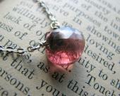 Tourmaline Necklace - October birthstone -Small Minimalist - Gift Christmas Daughter Wife Best Friend Girl Friend