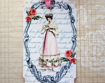 Shabby French Jane Austen Gift Tags