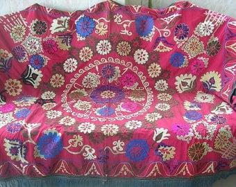 Uzbek Hand Embroidered Suzani 1979