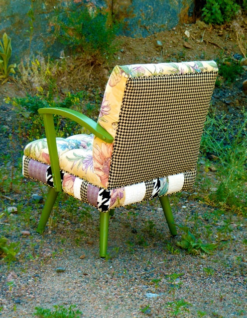 boho floral patchwork rocking chair by vintage renewal on. Black Bedroom Furniture Sets. Home Design Ideas