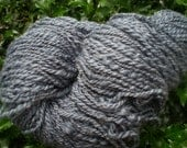 Handspun Yarn in Gray: Merino and Silk, 2 Ply