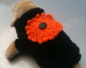 Dog Sweater. October, Halloween, Crochet, Dogs, Dog Clothing,