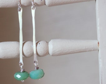 Add a lil' Oomph--Chysoprase/Sterling Earrings
