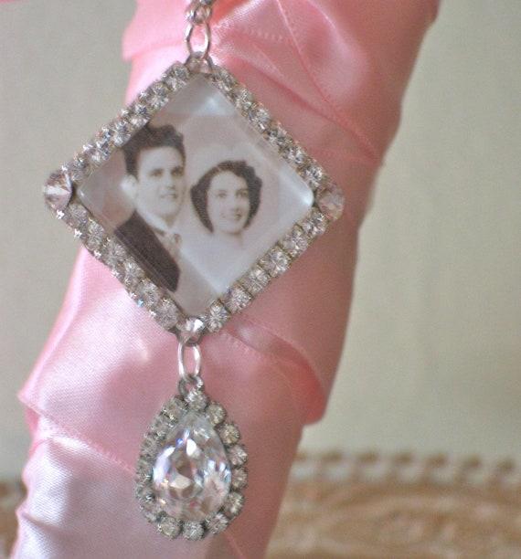 Custom Listing for Bernice. Wedding Bouquet Photo Charm, Bridal Bouquet Charm, Swarovski Crystal Memory Photo Charm