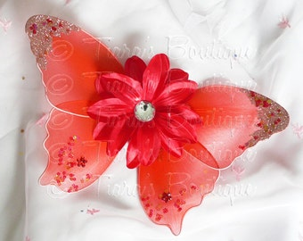 Red Baby Butterfly Wings - Infant Fairy Wings for Halloween - newborn to 12 months - Photo Prop - Prop for Newborn Photography